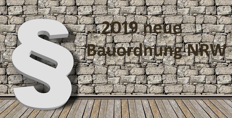 Neue Bauordnung NRW 2019